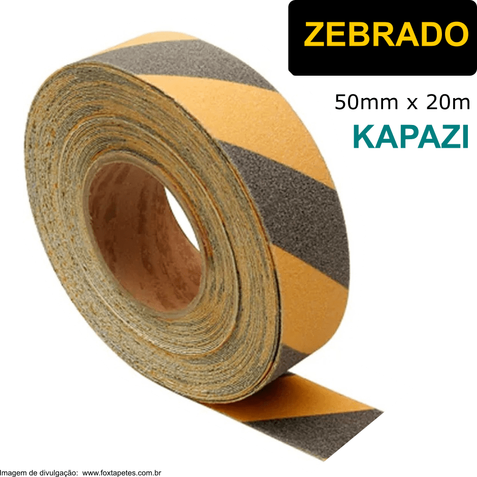 Fita Antiderrapante KAPAZI * Zebrado - 50mm x 20m