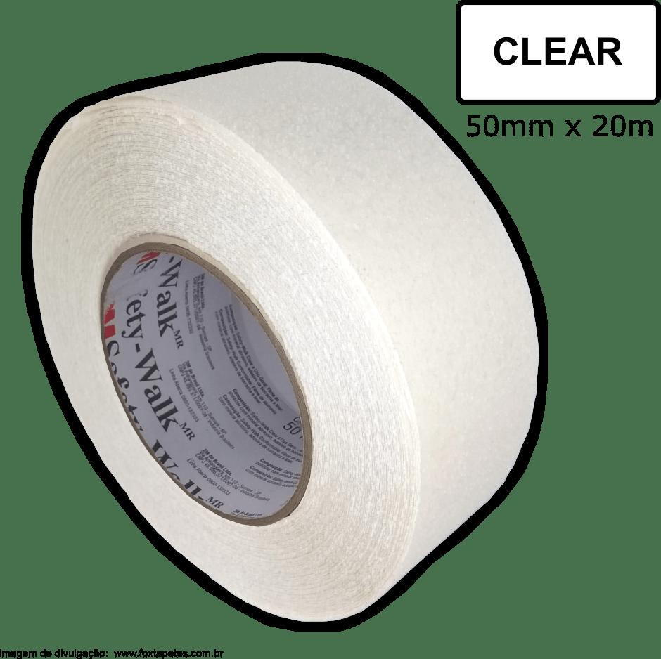 Fita Antiderrapante Safety Walk 3M * Transparente / Clear - 50mm x 20m