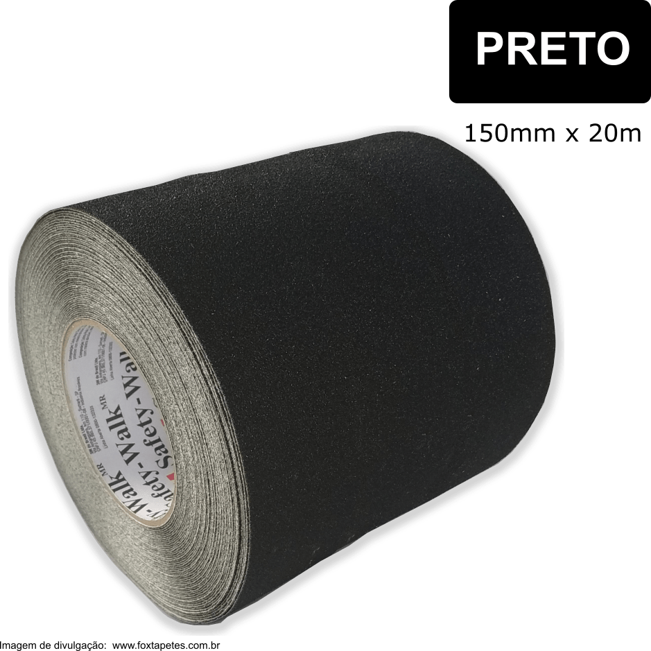 Fita Antiderrapante Safety Walk 3M -- Uso Geral - Preto - 150mm x 20m