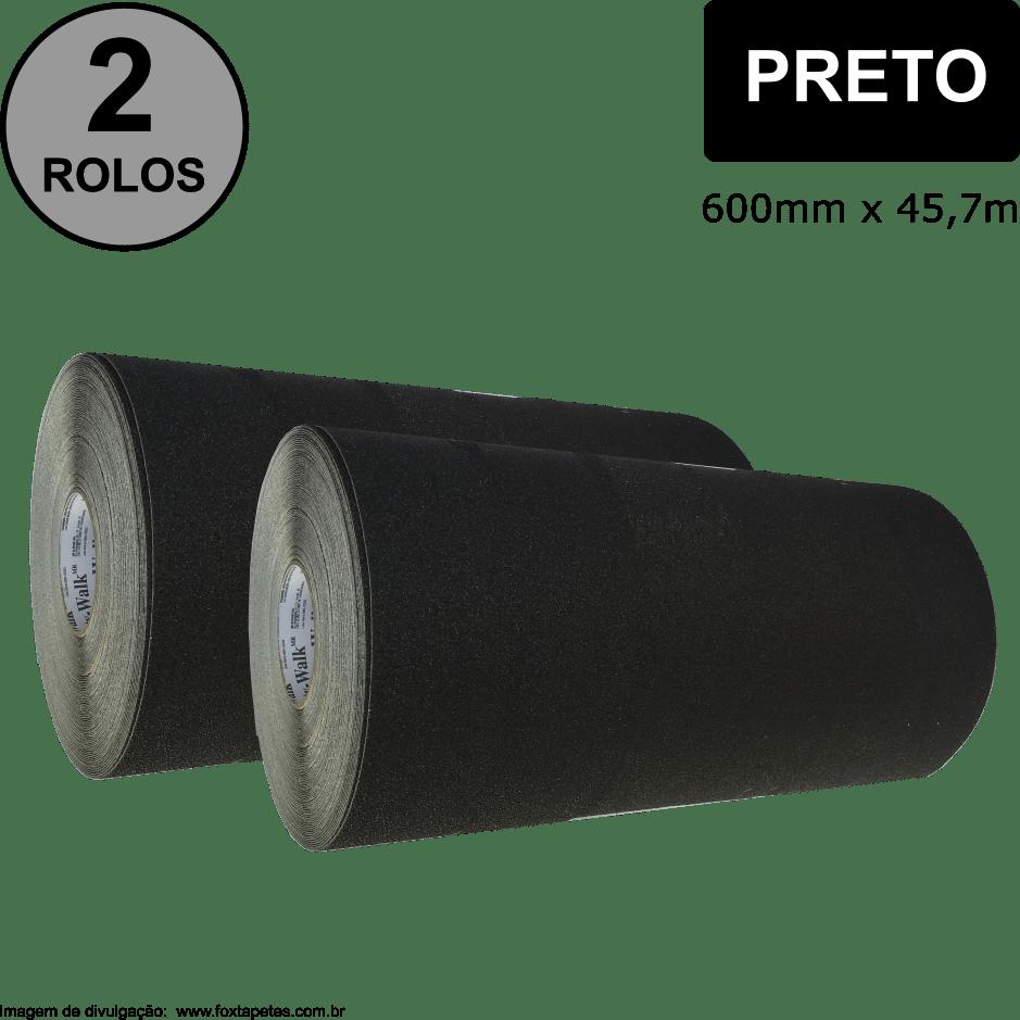 Fita Antiderrapante Safety Walk 3M : Uso Geral - Preto - 600mm x 45m - ( 2 ROLOS )