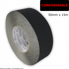 Fita Antiderrapante Safety Walk 3M - Conformable - Preto - 50mm x 15m